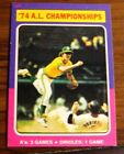 1975 TOPPS #459 74 A.L. CHAMPIONSHIPS A'S 3 GAMES A'S GAME XMT-NMT CENTERED