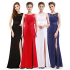 Ever-Pretty Elegant Long Lace Split Party Dress Evening Bride Prom Gowns 08949