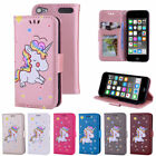 Unicorn Pattern PU Leather Wallet Flip Stand Case Cover for Apple iPod Touch 5 6