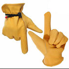 1Pair Anti-cutting Gloves Leather Palm Heavy Duty Gloves For Gardening Home Work