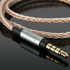 7N 8core 3.5mm male to male 90 Degree Right Angle Upgrade OCC Silve Audio Cable