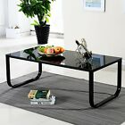 Small Glass Top Coffee Table With Metal Frame Living/bed Room Table, Side Table