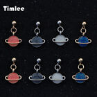 e219 - Timlee E219 New Sweet Simple Planet Earth Studs Earrings for Women Birthday Gift