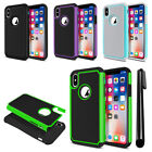 """For Apple iPhone X 5.8"""" Hybrid Bumper Shockproof Hard TPU Phone Case Cover + Pen"""