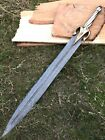 "28"" BDS CUTLERY RARE CUSTOM MADE DAMASCUS STEEL 1-OF-A-KIND HUNTING SWORD, UK-11"