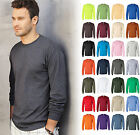 Gildan Ultra Cotton (Pack of 3) Mens Crewneck Long Sleeve T-Shirt S-5XL - 2400 image