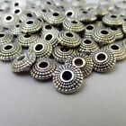 Antiuqed Silver Plated 8mm Saucer Spacer Beads B0051 - 20, 50 Or 100pcs