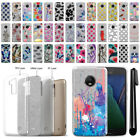 "For Motorola Moto G5 Plus 5.2"" Sparkling Silver TPU Silicone Case Cover + Pen"