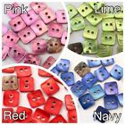 Color Shell Button Lot 20 18L 11mm SQUARE Real Pearl Craft Sewing Scrapbooking