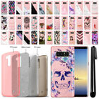 "For Samsung Galaxy Note 8 N950 6.3"" Sparkling Pink TPU Silicone Case Cover + Pen"