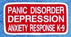 Panic Disorder Service DOG PATCH 2X4 assistance Medical Disabled Danny & LuAnn