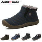 JACKSHIBO Mens Winter Snow Ankle Boots Fur Lined Casual Warm Outdoor Cozy Shoes