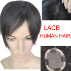 30g LACE  Human Hair Bangs Replacement Top Piece Clip In Hair extensions