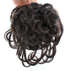 "New Base 4.52''x4.52"" Curly Womens Human Hair Topper Toupee Hairpiece"