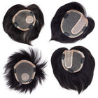 6/10/14inch Big Mono Base Womens Mens Human Hair Topper Hairpiece Toupee