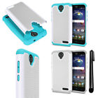 For ZTE Grand X 3/ X3 Z959 Warp 7 N9519 Hybrid Bumper Hard TPU Case Cover + Pen