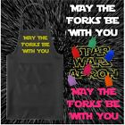 MAY THE FORKS BE WITH YOU KITCHEN APRON FUNNY NOVELTY CHEFS GIFT STAR WARS STYLE