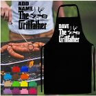 THE GRILLFATHER PERSONALISED NAME KITCHEN APRON FUNNY NOVELTY GODFATHER STYLE