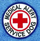 """Medical Alert Service Dog Patch Red Cross 3"""" Assistance Disabled Danny & LuAnn"""