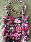 VERA BRADELY SMALL TOTE BAG IN MOD FLORAL PINK