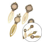 20mm round cabochon antique bronze plated bookmark tray settings supplies BH