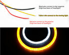 2X 30cm/60cm Flexible Car Soft Tube LED Strip Lamp DRL With Turn Signal Light UK