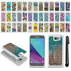 For LG X Venture X Calibur V9 Studded Bling HYBRID Phone Case Cover + Pen