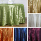 "2 Dozen PINTUCK 132"" ROUND 24 TABLECLOTHS Wedding Party C..."