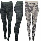 USA Women Military Camouflage Print Banded High Waist Seamless Footless Leggings