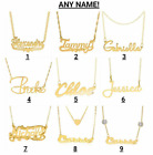 Personalized Sterling Silver Gold Any Name Plate Script Chain Necklace 9 Styles фото