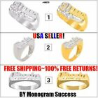 Personalized Any Name Ring .925 Sterling Silver 24K Gold Plated Ring Size 5-10