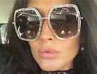 black square glasses - OVERSIZED VINTAGE RETRO Style Flat Lens Crystal Square Octagon Frame SUN GLASSES