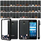 For Kyocera Hydro View C6742 Reach C6743 Dog Black TPU SILICONE Case Cover + Pen
