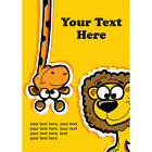 Personalised Childrens Birthday Party Invitations any age Animal lion, giraffe