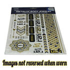 New Orleans Saints OR LSU Tigers Metallic Foil Body Jewelry Temporary Tattoos