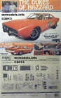 MPC 1/16 The Dukes of Hazzard General Lee Dodge Charger New Model Kit MPC752/06