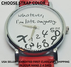 Whatever I'm Late Anyway Watch Numbers Mixed Funny Womens Girls Novelty Jewelry