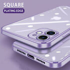 For iPhone 12 11 Pro Max X 8 7 Electroplate Silicone Ultra-thin Clear Soft Cover