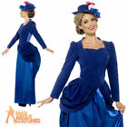 Ladies Deluxe Victorian Nanny Mary Costume Book Week Day Fancy Dress Outfit
