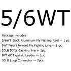 3-4 5-6 7-8WT Fly Reel and Line Combo CNC Machined Fly Fishing Reel Backing Line