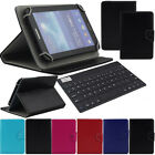 "For Amazon Kindle Fire 7"" Tablet Bluetooth Keyboard Universal Leather Cover Case"