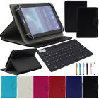 "US For 7"" 7 Inch Tablet PC Bluetooth Keyboard Universal Leather Stand Cover Case"