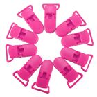 10 Pcs KAM Plastic Pacifier Clips Soother Dummy Bib Suspender Paci Toy Holder