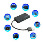 4-Port USB 3.0 Hub 5Gbps Compact Portable for PC Mac Laptop Notebook Desktop C