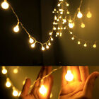 2m 3m 5m LED String Fairy Lights Warm Ball Starry Party New Year Wedding Decor