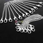 Fashion Men Women Silver Plated Necklace Chain Extender + Lobster Clasp SC CA