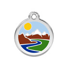 Red Dingo Dog Cat Pet ID Tag Charm FREE Personalized Engraving MOUNTAIN