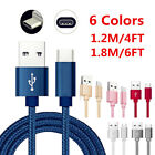 4/6FT USB 3.1 Type-C Data Sync Charger Cable For Samsung Galaxy A3/A5/A7(2017)
