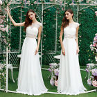 cream bridesmaid dresses - Ever-Pretty Sexy Long Cream Lace Hollow Wedding Dress Prom Bridesmaid Gown 08984