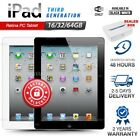 Apple Ipad 3rd Generation Black White 16gb 32gb 64gb Retina Pc Tablet Wifi Only